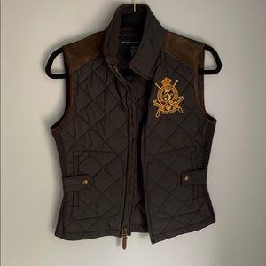 Ralph Lauren suede shoulder patch vest